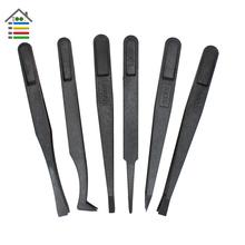 Free shipping New 6PCS Precision Antistatic Tweezer Set Plastic Anti Static Tool Kit Heat Resistant Repair Tool(China (Mainland))