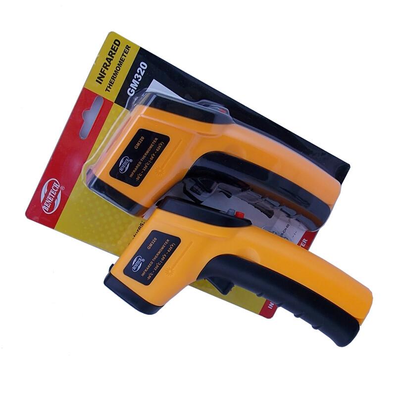 Sending Retail pack Digital Infrared Thermometer Themperature Pyrometer IR Laser Point Gun Non-Contact 330 degree Free Shipping(China (Mainland))