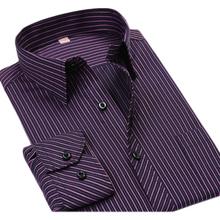 Free Shipping 2015 Plus size 45-48 Striped Men Shirts Cheap Long Sleeve Shirts  5XL 8XL Big Size Casual Shirts Camisas Masculina