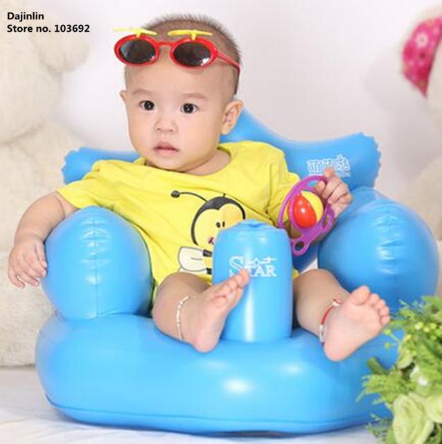 Надувной детский стульчик усилитель кормление портативный складной младенческой сиденье ...