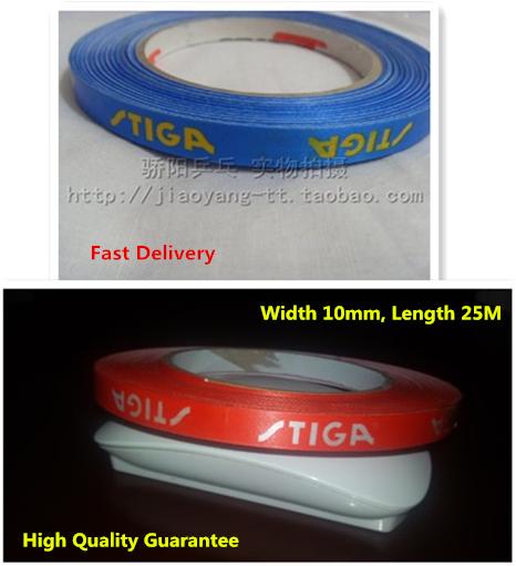 [ High Quality Guarantee, Width 10mm, Length 25M] Red Blue Stiga table tennis edge tape, racket edge tape(China (Mainland))