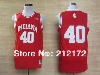 Indiana Hoosiers Cody Zeller 40 Big 10 Patch NCAA Basketball Authentic Jerseys  Free shipping size 48-56