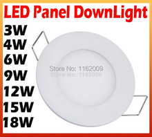 3W 4W 6W 9W 12W 15W 18W Extra Bright LED Recessed Ceiling Panel Light Lamp Cold White/Warm white AC85-265V - Perfect light store