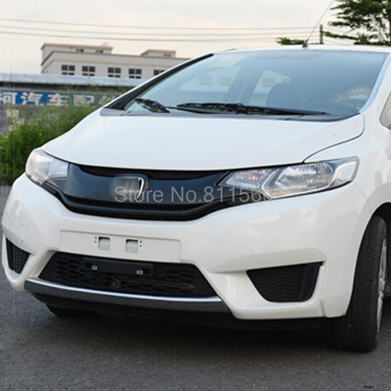 For Honda Jazz 2014+ ABS Chrome Front bumper Around Trims Racing Grills Trims Front Grille Center Around Trim 1 PCS<br><br>Aliexpress