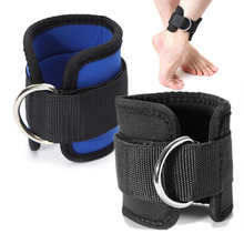 1Pcs Delicate Adjustable Ankle Guard Strap D-ring Thigh Leg Pulley Gym Weight Lifting Multi Cable Attachment Fitness Protection(China (Mainland))