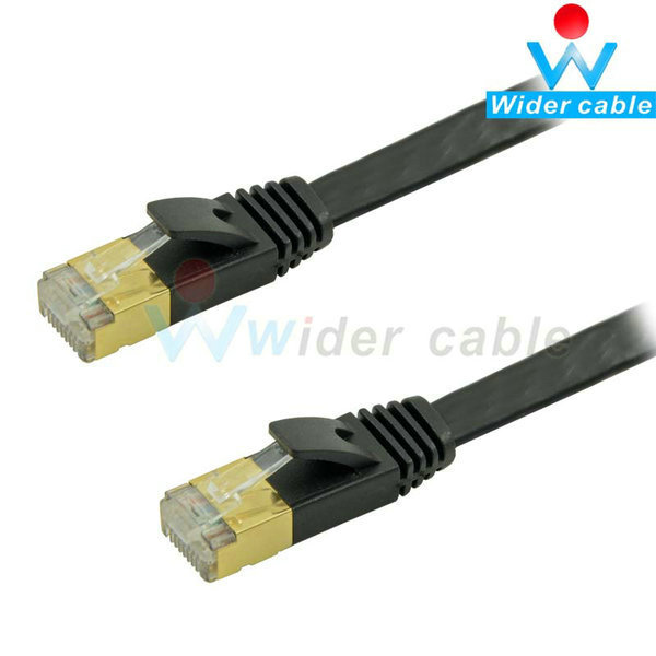 7ft Flat Shield Cat7 Ethernet Cable Twisted Pair Gold Plat Cat7 Network Cable(China (Mainland))