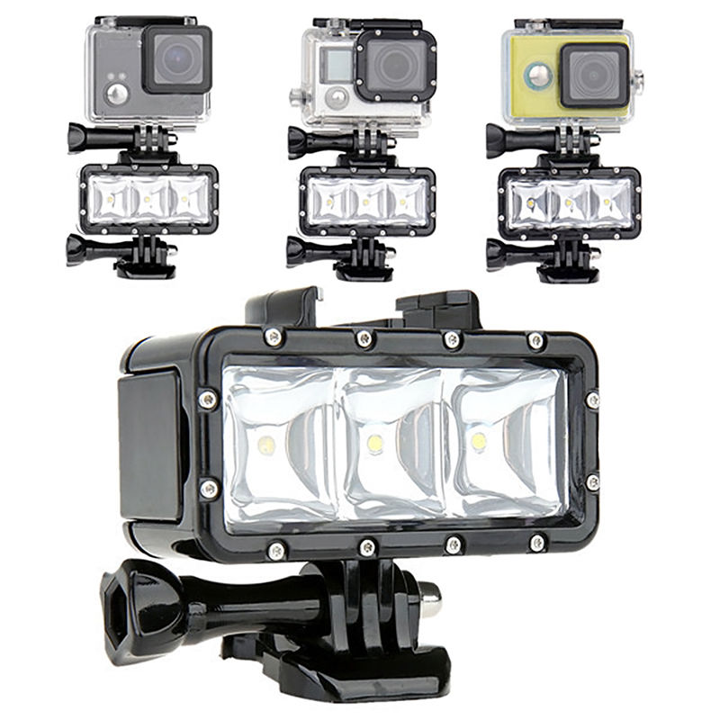 GoPro flashLight lamp Underwater Diving Waterproof LED Flash Video Light Mount For Go Pro Hero 4/3+,SJCAM SJ4000 H9 H9R