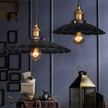 E27 Painted Iron Retro Vintage Pendant Light Countryside Antique Lamp Pendant Lamp The Lotus Shape with 1.2m Wire(China (Mainland))