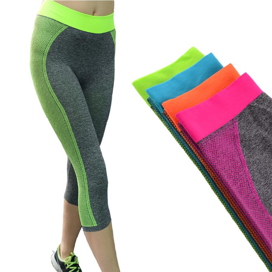 Orson Women Sport Leggings Yoga Running Training Bodybuilding Fitness Clothing Gym Elastic Jegging Leggings 5 Colors(China (Mainland))