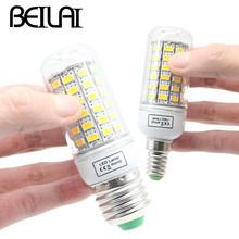 BEILAI SMD 5730 Lampada LED Lamp E27 220V Corn Light E14 LED Bulbs 220V Chandelier Candle Luz 36 48 56 69 72 81 89 96 120LEDs(China (Mainland))