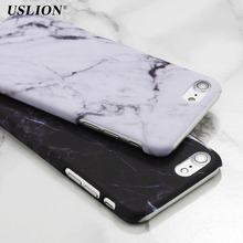 Buy USLION Luxury Smooth Hard PC Phone Cases iPhone 7 Marble Stone Skin Back Cover Case Capa Coque iPhone7 6 6s Plus 5 5s SE for $1.25 in AliExpress store