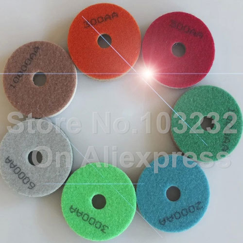 Marble gloss pad panshi diamond sponge polishing pads sandpaper disc sander soft stone last polish pads dia 3 inch(China (Mainland))