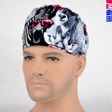 Matin op-hauben für ärzte und krankenschwestern 100% baumwolle Kappe und kurze haare mit Schweißbänder(China (Mainland))