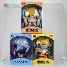 Anime Naruto Cartoon Q Version Naruto/Kakashi/Watergate PVC Model Toys Action Figure For Kids Collectible Toy Doll Piggy Bank 20