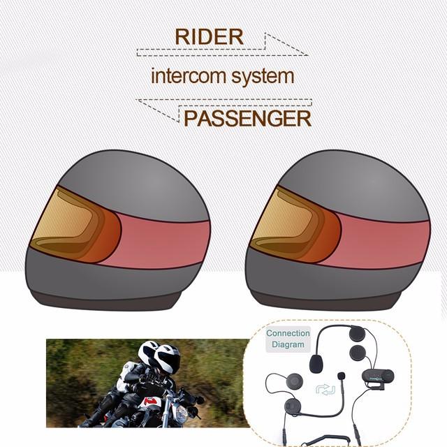 (1set) Good News!!! To Intercom Talking Pillon Passenger Motorcycle Bluetooth Intercom Helmet Headset TCOM-02S(China (Mainland))