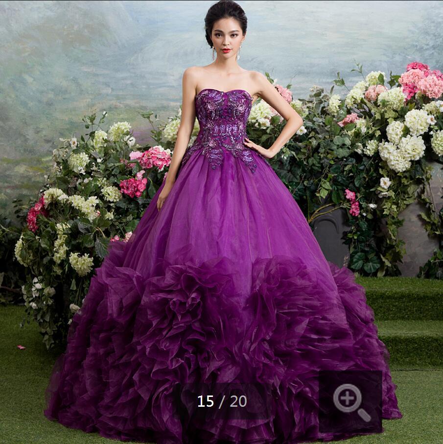 Purple Chinese Wedding Dress – Fashion dresses