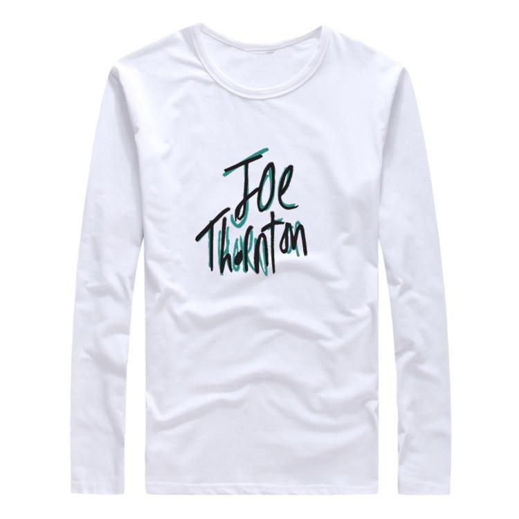 2017 Autumn Winter San Jose Joe Thornton Name Signature Men T-Shirt Long Sleeve T SHIRT W1120107(China (Mainland))