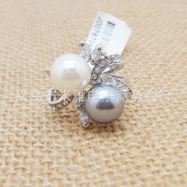 2014 Time-limited New Rings Jewelry The Gorgeous 18k Plated Ring O Fashion Pearl Rings for Woman And Jewelry No Minorder Rg072(China (Mainland))