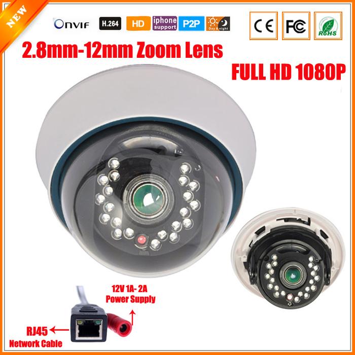Full HD 1080P 3X Zoom Varifocal Lens 2.8-12mm IP Camera 21 IR LED ONVIF Motion Detect IR Cut Filter Varifocal 2MP Camera IP(China (Mainland))