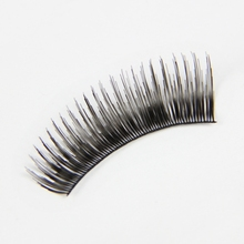 Free Shipping 12 Rows 8mm All Curl artificial Eyelash Fake False Eye Lash Extension Black(China (Mainland))