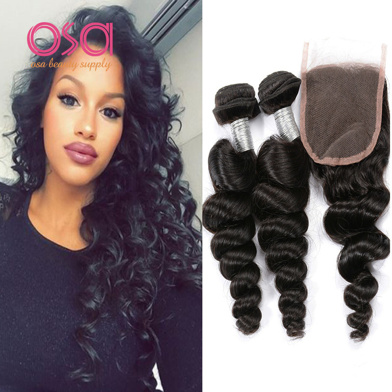 Cheap Virgo Peruvian Hair Bundles Loose Body Wave with Lace Closure, Remy Peruvian Virgin Human Hair Weave VIP Beauty Hair Wave