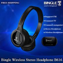 Original Bingle B616 Multifunción Wireless stereo Headset Auriculares con Micrófono FM Radio MP3 PC TV Audio Móviles