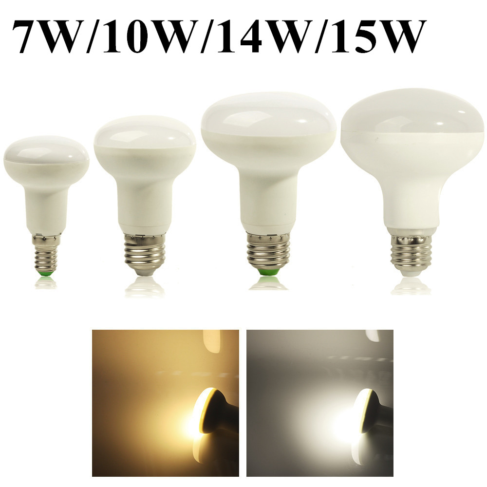 Super R50 R63 R80 R90 7W/10W/14W/15W E27 Umbrella LED Bulb Cool/Warm White 85~265V dimmable SpotLight High Bright - Professional Light Manufacturer store