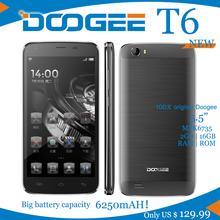 NEW LTE Smartphone Big battery 6250mAH Doogee T6 MTK6735 QuadCore 1.3GHz 5.5Inch HD 2GB RAM+16GB ROM Dual SIM 13.0MP Android5.1