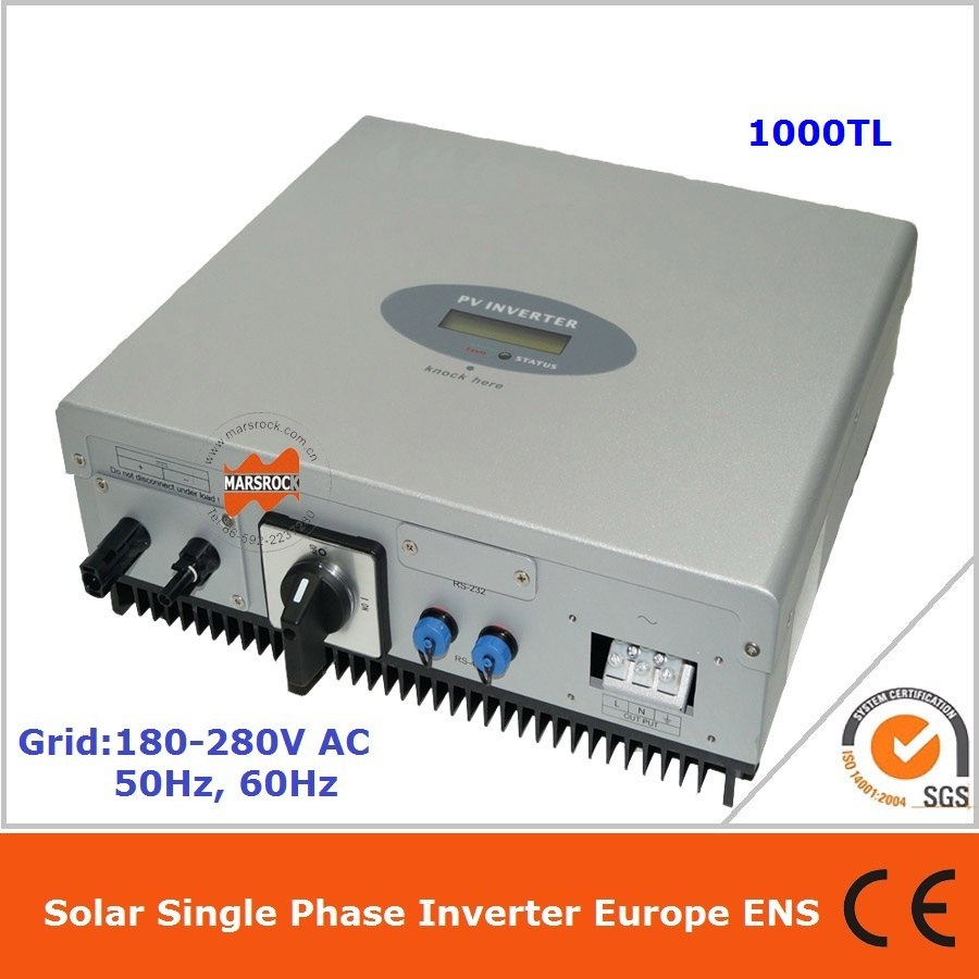 1000W single phase DC AC on grid solar inverter with LCD multi-language display CE VDE IEC ENEL etc. approved for all countries<br><br>Aliexpress