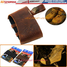 Newest Hot sell Motorcycle Pedal Gearshift Leather Shift Sock Boot Shoe Protector With 3D Logo Brown Free Shipping(China (Mainland))