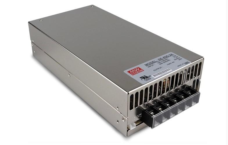 Фотография SE-600-24;24V/600W meanwell switch mode led power supply;AC100-240V input;24V/600W output