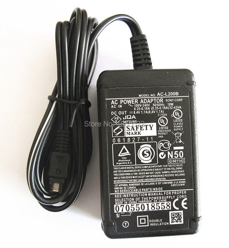 AC-L25 AC-L200 AC Power Supply Adapter Charger for SONY Camecorders DCR-DVD7 DCR-DVD7E DCR-DVD92 DCR-DVD92E DCR-DVD103(China (Mainland))