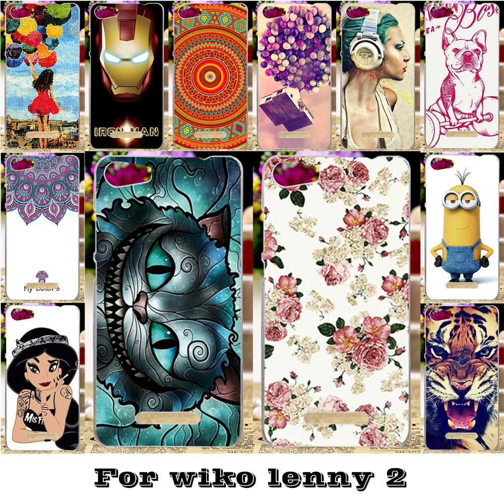 Painted Mobile Phone Skin Cases Wiko Lenny 2 II Lenny2 5'' Covers Protective Bags 18 Styles Plastic Durable Shell  -  WEE store