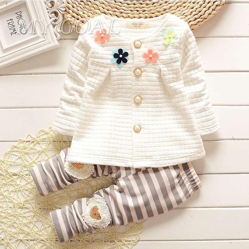Baby Girl Clothes 2015 Spring Fashion Newborn Baby Girls Clothes Set Infant Girl Long Sleeve Clothing(China (Mainland))