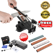 Brand Ruixin Professional Kitchen Sharpening Knife Sharpener System Fix-angle With 4 Stones II for Kitchen Knife Tools(China (Mainland))