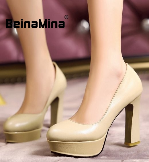 women real genuine leather stiletto platform dress high heel shoes sexy fashion brand pumps ladies heels shoes size 34-39 R7013<br><br>Aliexpress