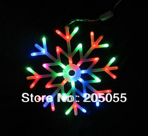 Snowflakes LED fairy String Light snow flake rope motif 40 bulb Indoor/Outdoor Christmas Xmas ...