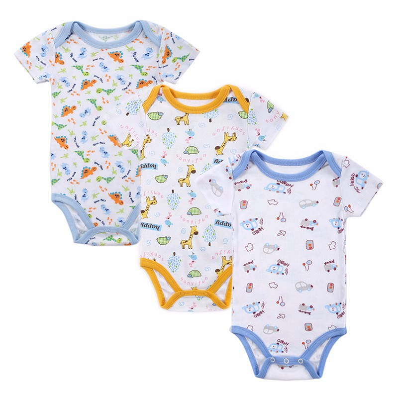 35PCS Baby Bodysuit 100%Cotton Infant Body Bebes Short Sleeves Clothing Jumpsuit Printed Baby Boy Girl Bodysuits Baby Clothing (8)