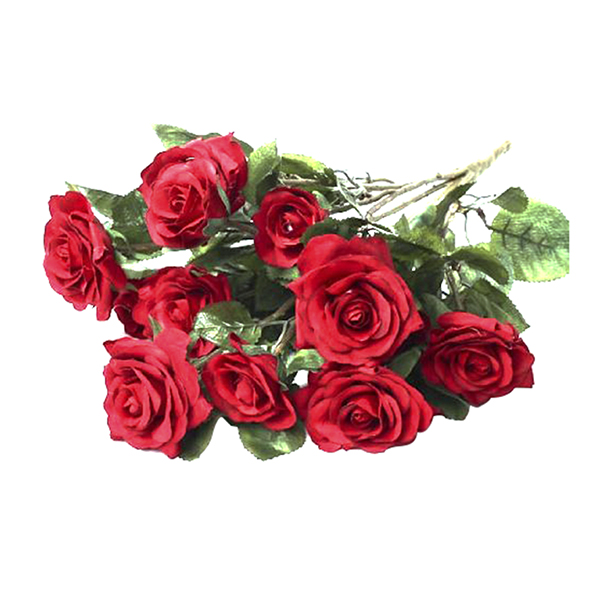 Beautiful and Life Like New Party Home Wedding Floral Decor Artificial Red Rose Bouquet Fake Silk Flow for Centerpieces(China (Mainland))