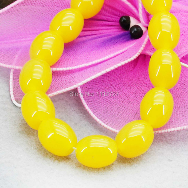 Hot Sale Imitation Beeswax Jewelry Amber Stone Loose Beads Yellow Opaque Resin Accessories DIY 10X14mm For Women Girls Gifts(China (Mainland))
