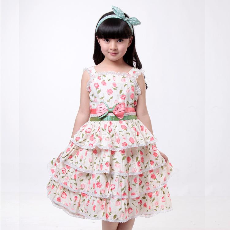 Kids dress girl girls cotton dresses little girls children ...
