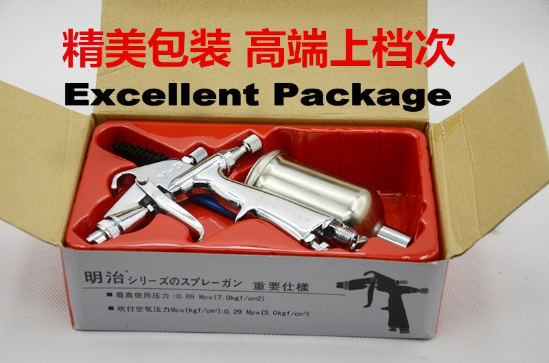 Japan MEIJI mini repairing spray gun V3 with 200cc cup 0.5mm nozzle used for artwork/wall art and leather painting free shiping <br><br>Aliexpress