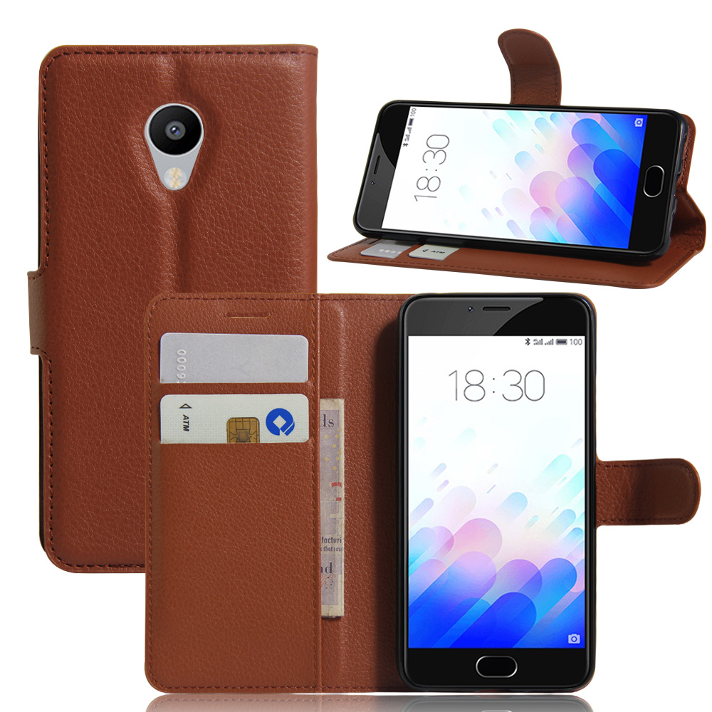 Top Quality Flip Luxury PU Leather Case For Meizu M3 Mini Cover With Stand Design Phone Bags Cases 5.5'' Wholesale Retail(China (Mainland))