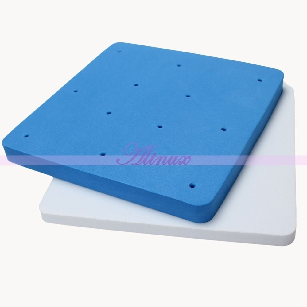 Free Shipping 12 Holes Fondant Cake Foam Pad Sugarcraft Cookies Flower Food Cookware Decor Mat 2015 New Arrival Promotion(China (Mainland))