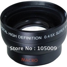 0.45x 37mm Wide Angle Macro Conversion LENS for canon nikon sony camera(China (Mainland))