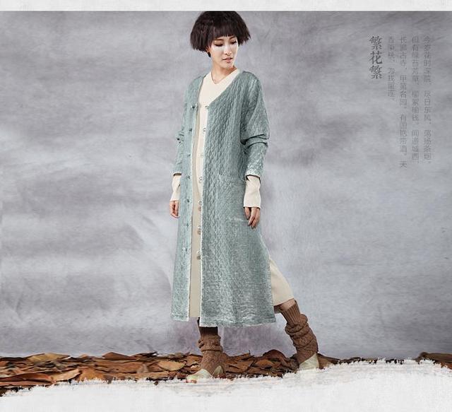 Оригинальный зима толстый классический пластины длинные пальто сплит подол пальто ...