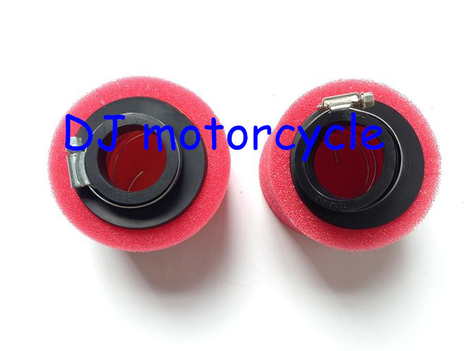 Free Shipping Two Layer Foam Air Filter For 250cc Honda Dirt Bke Wholesale 42mm Motocross Engine Air Cleaner Cheap ATV(China (Mainland))