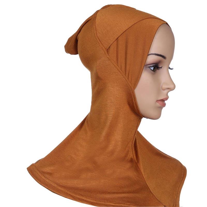 2pcs/lot Criss Cross Cotton Ninja Inner Hijab Full Underscarf Cap Muslim Headwear Wrap Bandanas Islamic Headscarf Hat One Tone(China (Mainland))