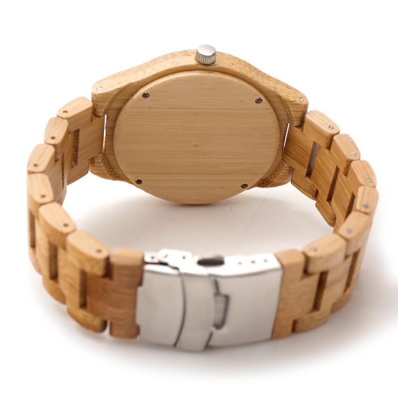 БОБО ПТИЦА Марка Дизайнер D19 Природа Бамбука Мужские Часы Бамбук Циферблат Бамбука Ремни Кварцевые Часы Подарок Принять Настройки OEM