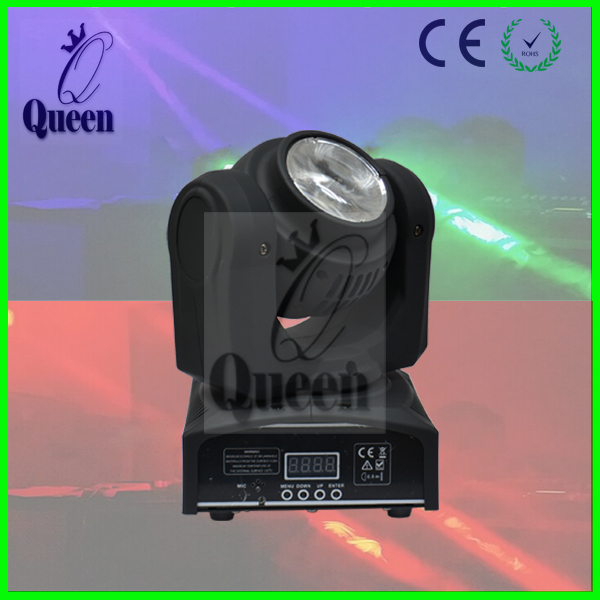 Big Discount 10pcs/lot New Disco nightclub light Mini 2*10W led Moving Head Lights Double Faces RGBW 4in1 beam DMX 16/22 Channel(China (Mainland))